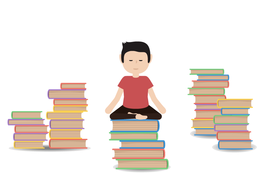yoga and books